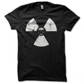 Tee shirt écologie crâne nucléaire grungy noir