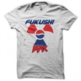 Tee shirt Pepsi Max Fukushima parodie Fukushi Max blanc