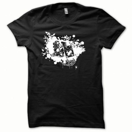 Tee shirt Poker blanc/noir