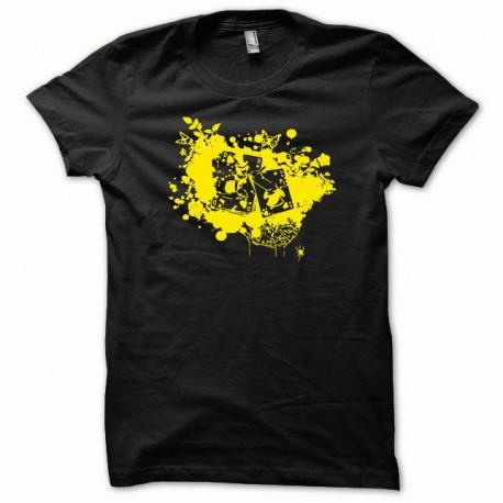 Tee shirt Poker jaune/noir