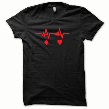 Camisa instintos de póker rojo / negro