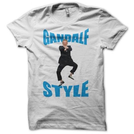 Tee shirt Gandalf Style parodie gangnam blanc