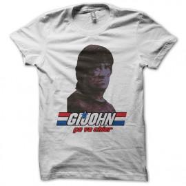 Camiseta GI Joe parodia Rambo ça va chier blanco