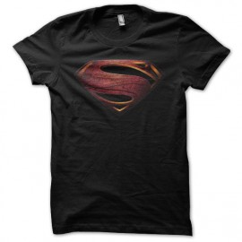 Tee shirt Superman Man of Steel vintage noir