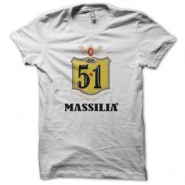 Tee shirt humour Bavaria 8.6 parodie Massilia 5.1 blanc