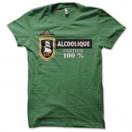 Tee shirt humour Amsterdam Maximator parodie Alcoolique certifié 100% vert