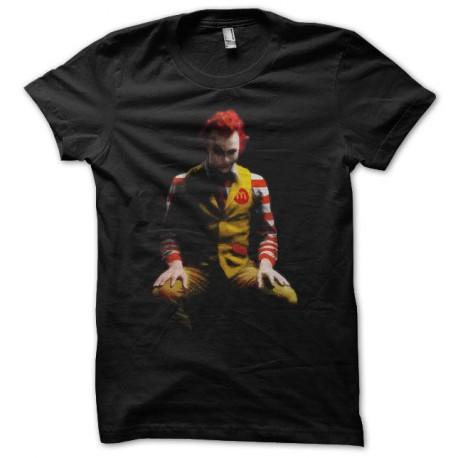 Tee shirt Joker parodie Ronald Mc Donald's noir