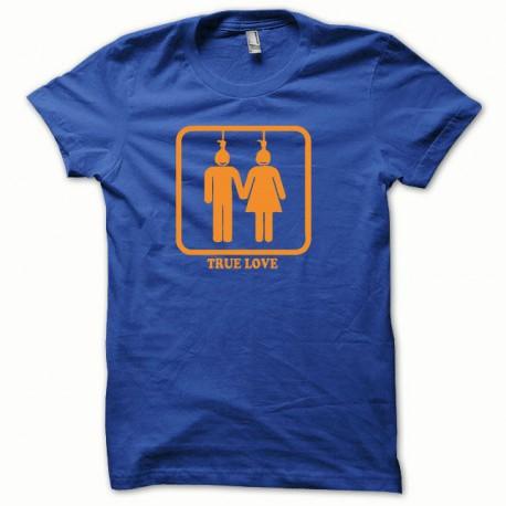 Shirt True Love orange / royal