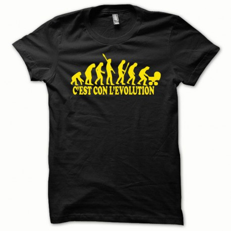 Tee shirt Evolution jaune/noir