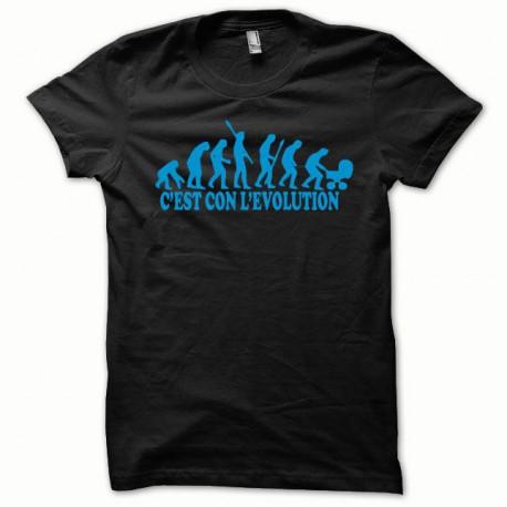 Tee shirt Evolution bleu/noir