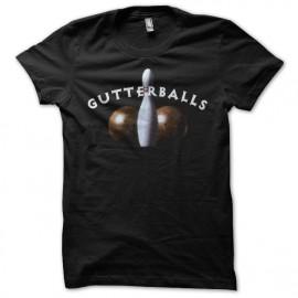 Tee shirt Big Lebowsky Gutterballs noir