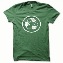 Tee shirt Recycled blanc/vert bouteille