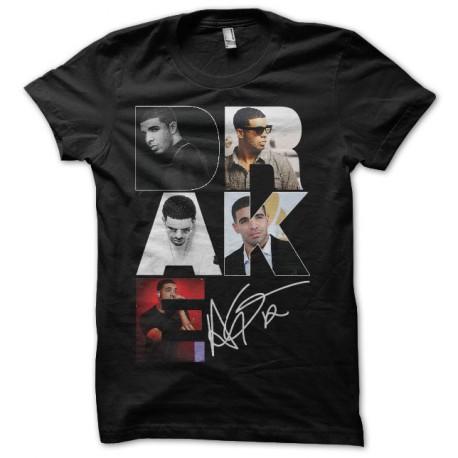 camiseta Drake signature negro