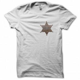 Tee shirt étoile de sheriff  blanc