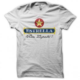 Tee shirt humour Estrella parodie Viva Zapata blanc