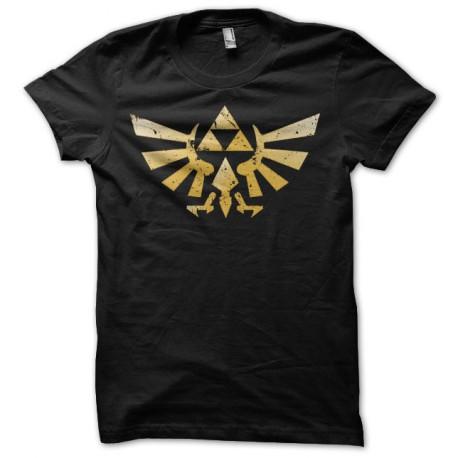 Tee shirt Zelda logo triforce grungy noir
