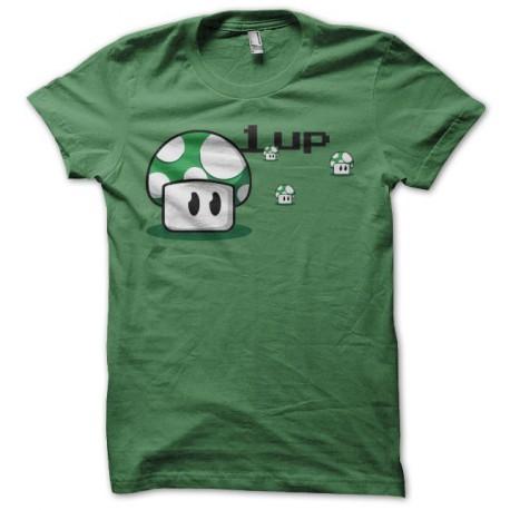 Tee shirt 1 up mario mushroom vert