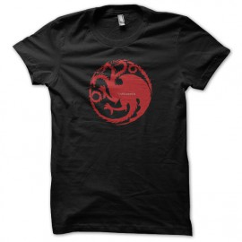 Tee shirt Le Trône de fer tee shirt Targaryen Game of thrones noir