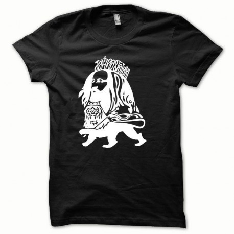 Camisa blanca Rastafarl Toker / negro