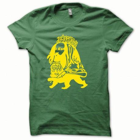 Tee shirt Rastafarl jaune/vert bouteille