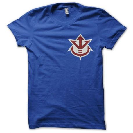T-shirt symbol Vegeta Saiyan Royal Family blue