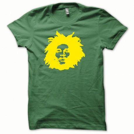 Tee shirt Bob Marley jaune/vert bouteille