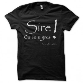 T-shirt Kaamelott Perceval Sire on en a gros black