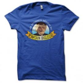 Tee shirt  Les Nuls Captain Bigleux bleu