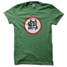 Tee shirt symbole Tenshinhan Chiaotzu Crane's kanji vert