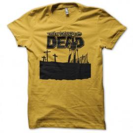 Camiseta The Walking Dead cómic cementerio amarilla
