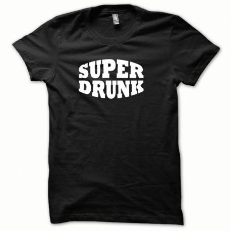 Tee shirt Super Drunk blanc/noir