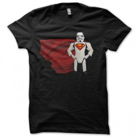 Tee shirt parodie Starwars Super Man Super Trooper noir