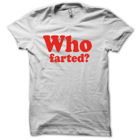 Tee shirt  Who Fart rouge/blanc