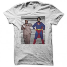 Tee shirt Gnarls Barkley parodie Super Man blanc