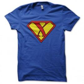 Tee shirt détournement Superman xXx bleu