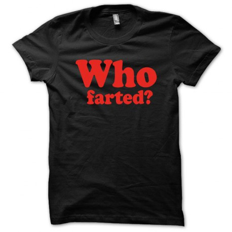 Tee shirt  Who Fart rouge/noir