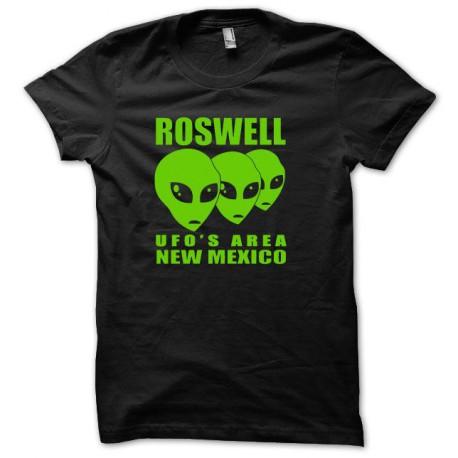 Tee shirt U.F.O Roswell vert/noir