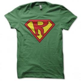 Tee-shirt Superman parodie Rastaman vert