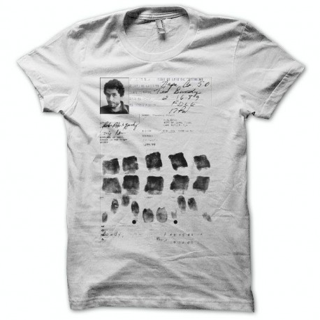 Tee shirt Serial Killer Ted Bundy Blanc