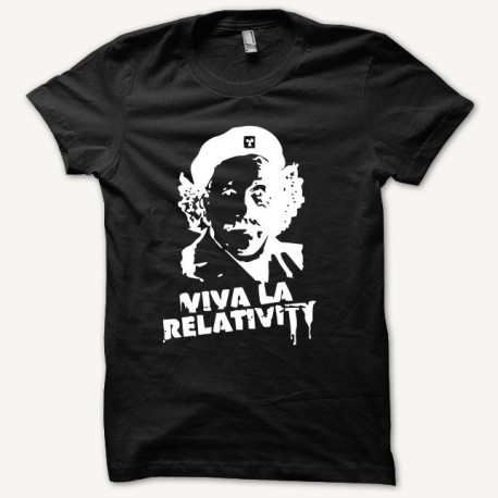 Shirt parody Einstein Che Guevara white / black