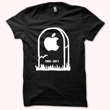 Tee shirt Steve Jobs RIP blanc/noir
