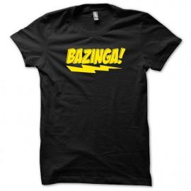 Tee shirt Sheldon Cooper Bazinga version originale jaune/noir