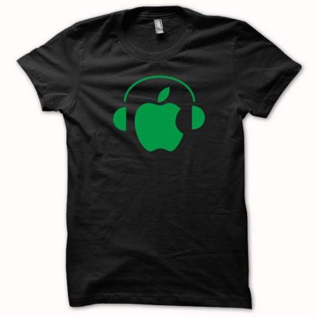 Tee shirt Apple Dj vert/noir