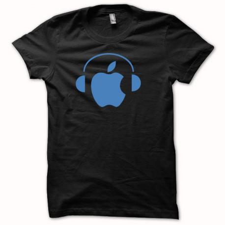 Tee shirt Apple Dj bleu/noir