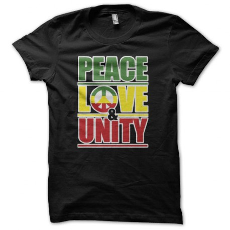 Tee shirt Peace love & unity noir