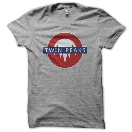 Tee shirt Twin Peaks Uground sign gris