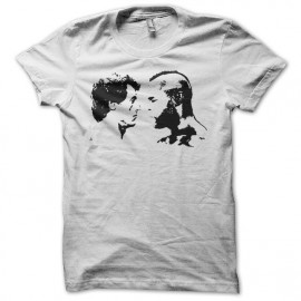 Camiseta Rocky vs Mr T negro/blanco