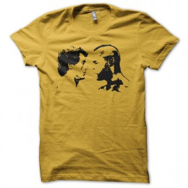 Camiseta Rocky vs Mr T negro/amarillo