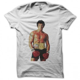 T-shirt Rocky ready to boxe white