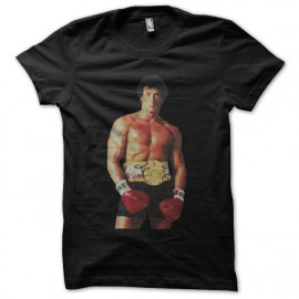 Tee shirt Rocky ready to boxe noir